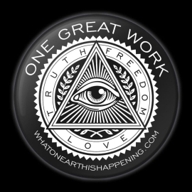 One Great Work Button – Black