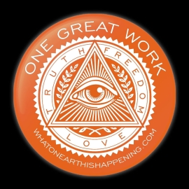 One Great Work Button – Orange