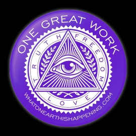 One Great Work Button – Purple